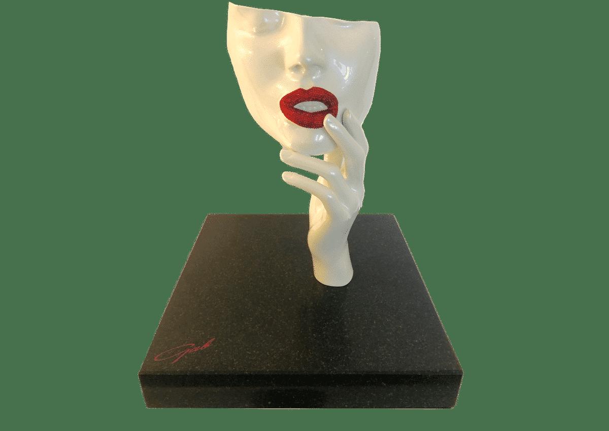 Sculptures - Kiss my Diamonds Lips Diamonds - Art Made by Gab