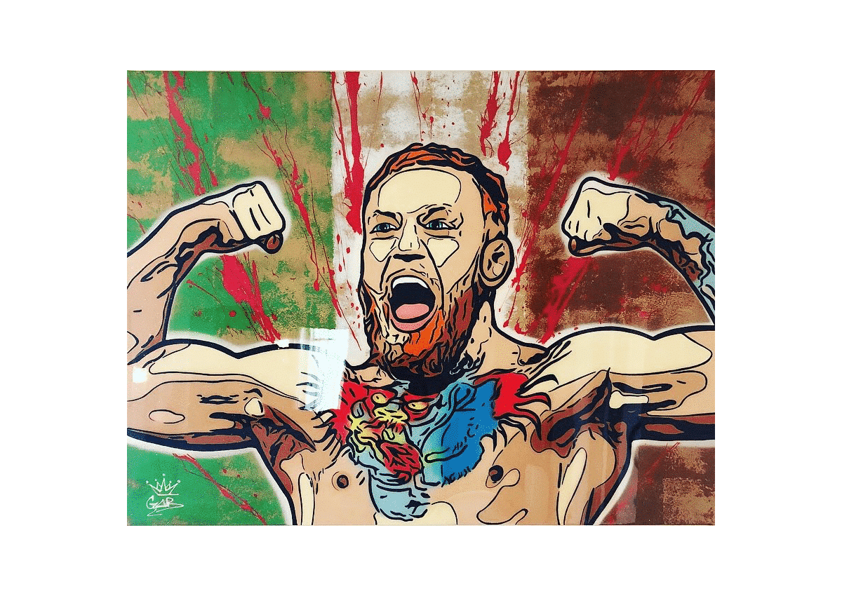 Tableaux - Conor Mc Gregor - Art Made by Gab
