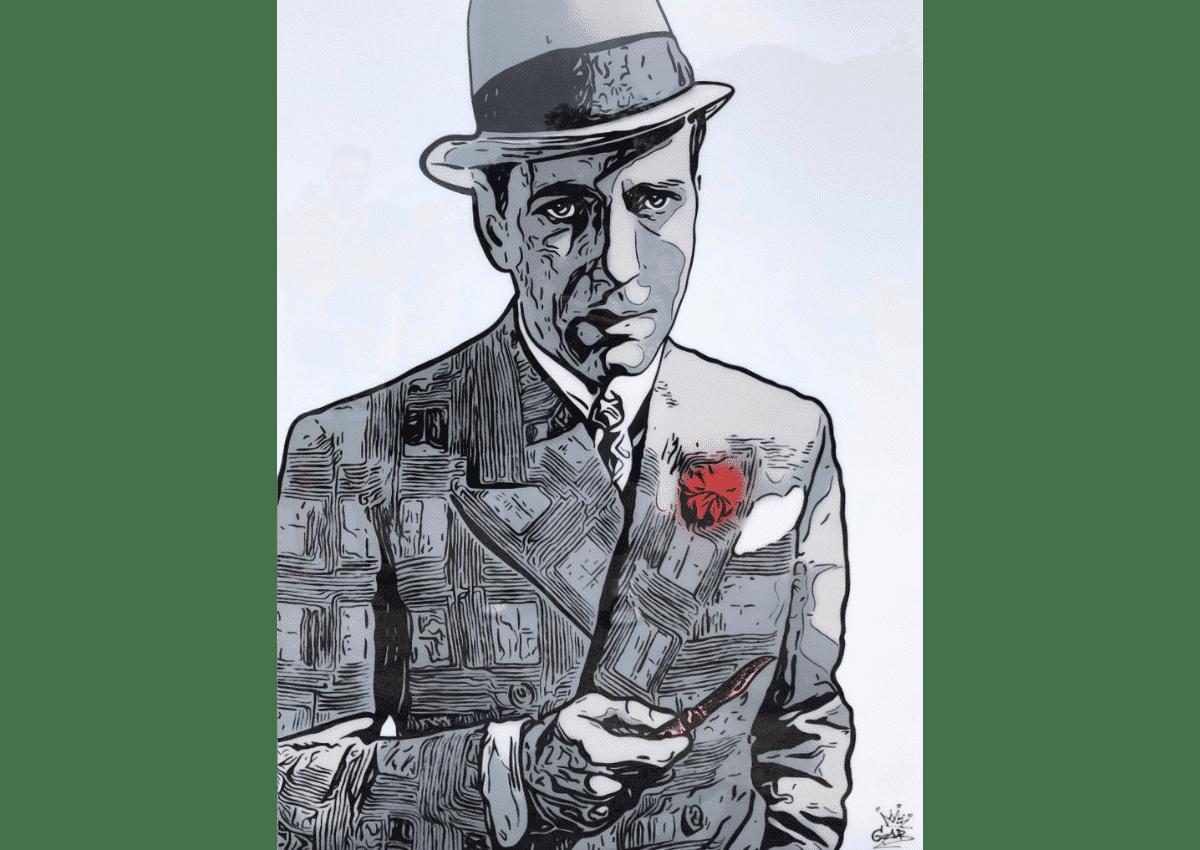 Tableaux - Humphrey Bogart - Art Made by Gab