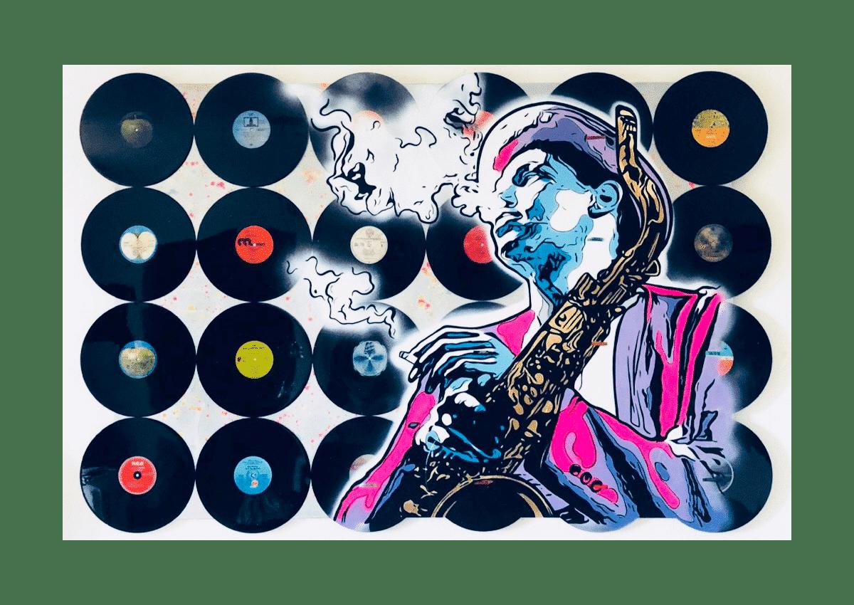 Tableaux - Jazz Man - Art Made by Gab