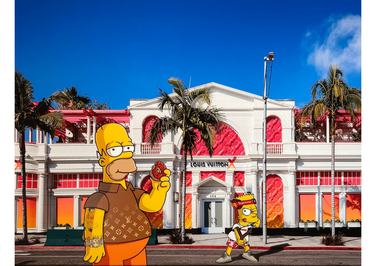 Prints - The Simpsons in Beverly Hills - Art Made by Gab