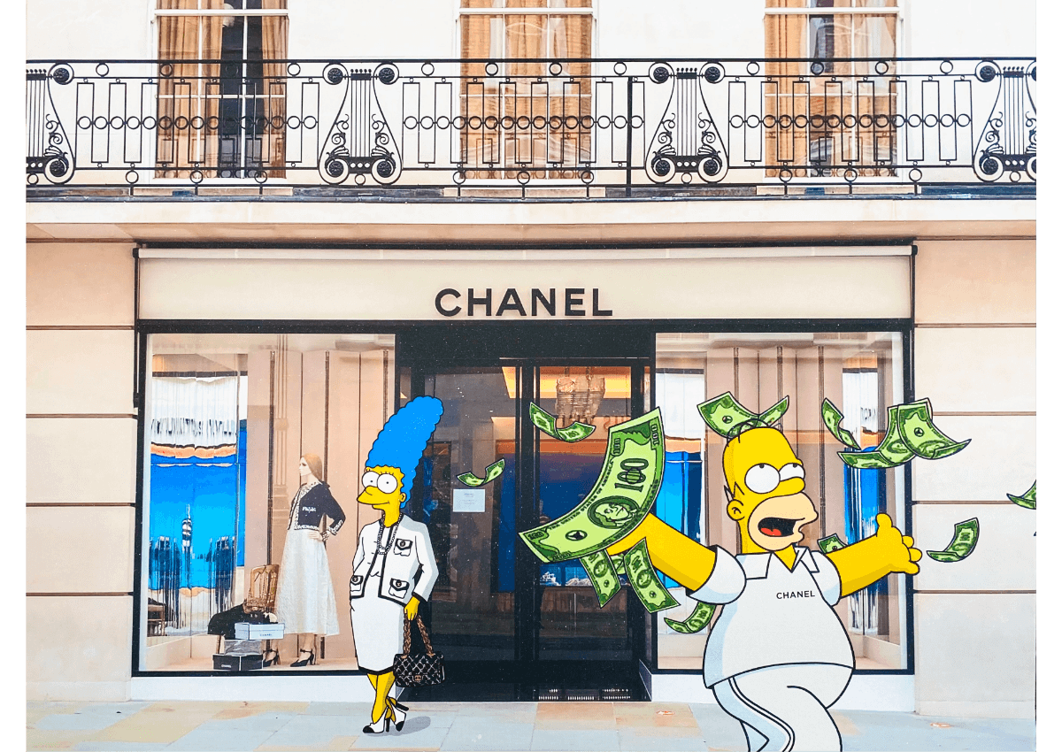 Tableaux - The Simpsons in Beverly Hills - Art Made by Gab
